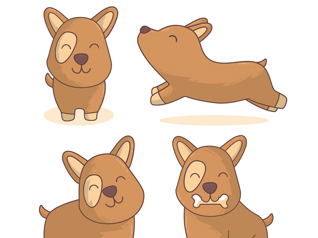 狗年儿童简笔画