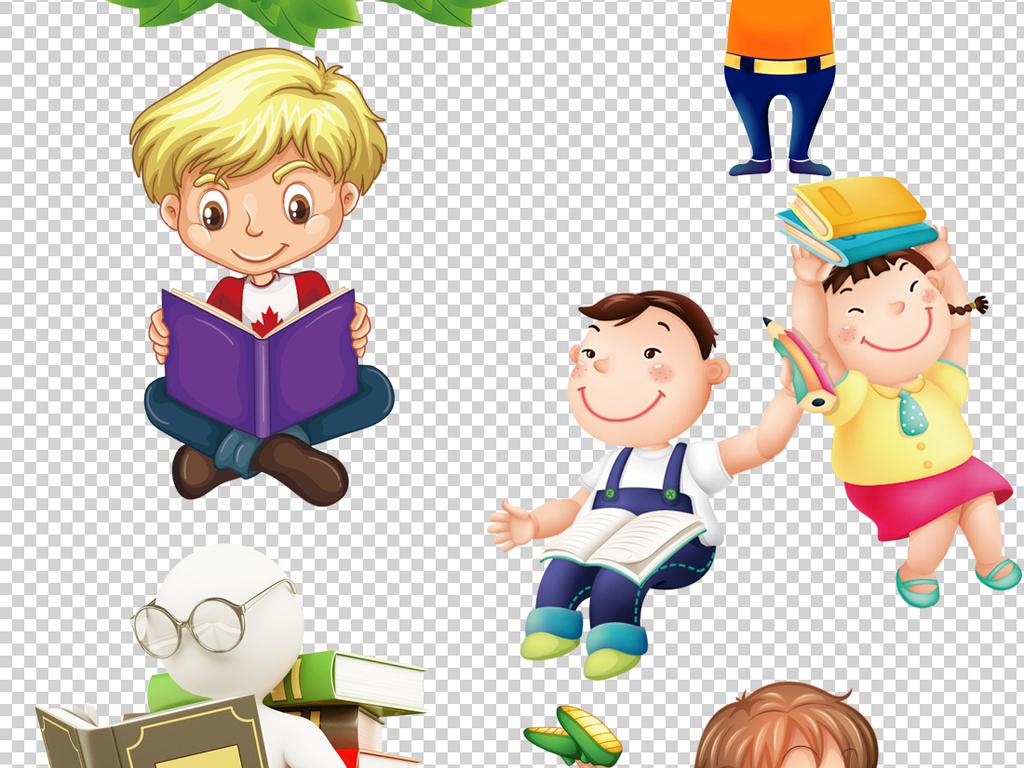读书海报背景朗读幼儿园看书书本儿童卡通人物上课知识学校卡通背景