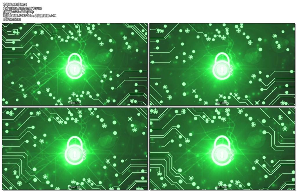 绿色电路板密码锁