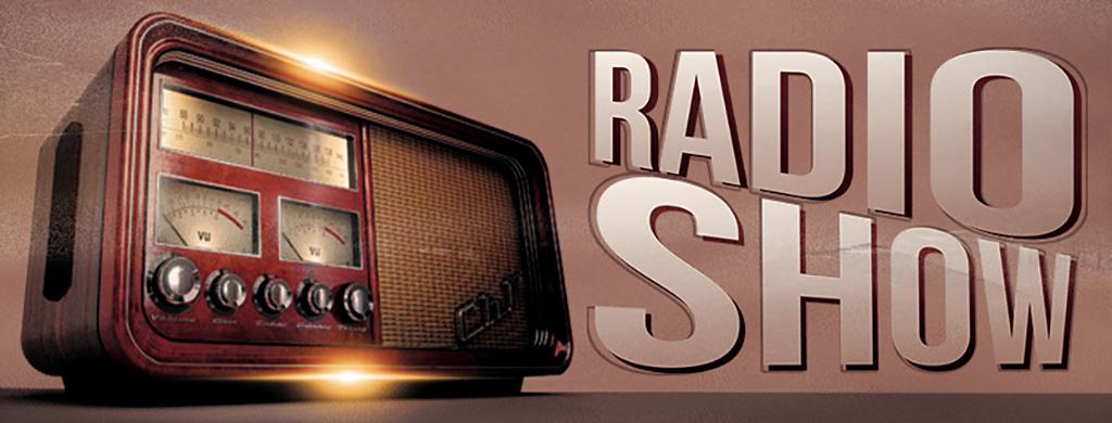 怀旧复古广播电台播音主持栏目宣传海报模板