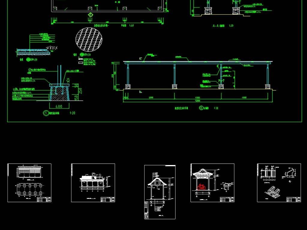 自行车车棚cad设计设计图