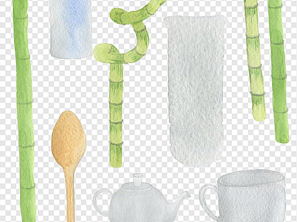 水彩花环手绘素材叶子手绘叶子素材