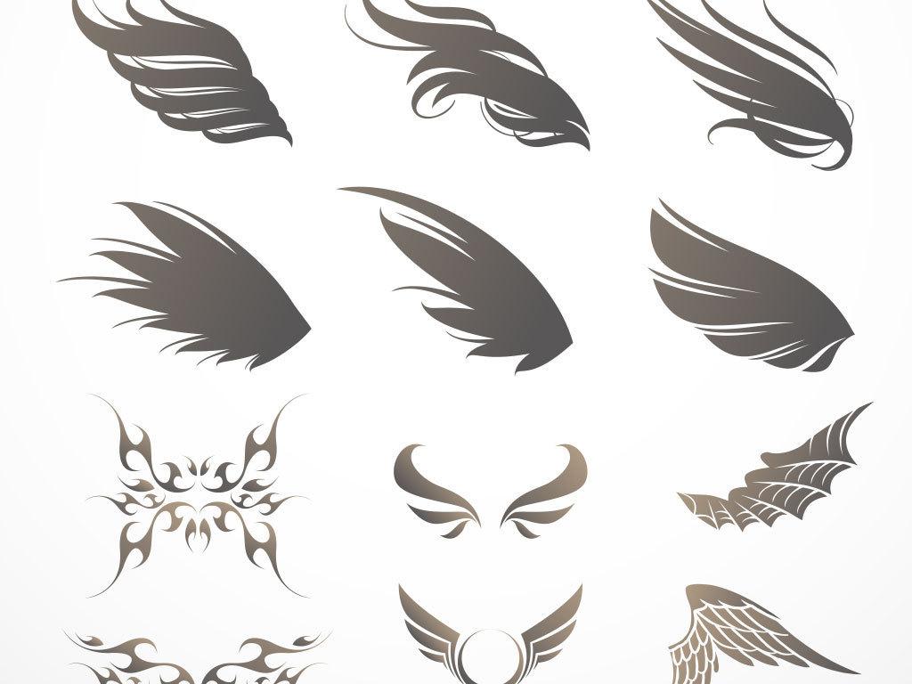 酷华丽翅膀矢量                                  非主流