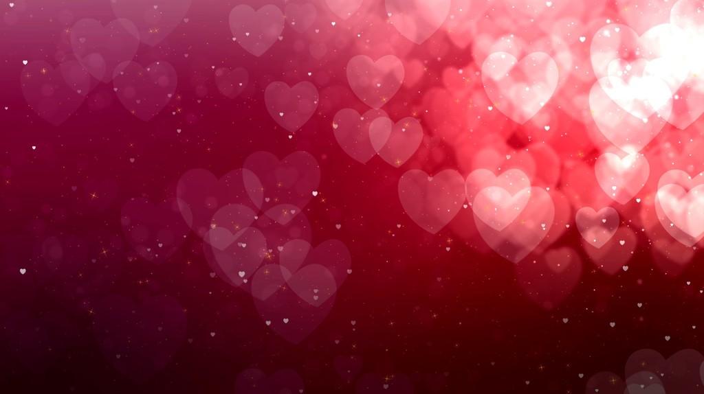 4k心形浪漫婚礼情人节循环视频led素材