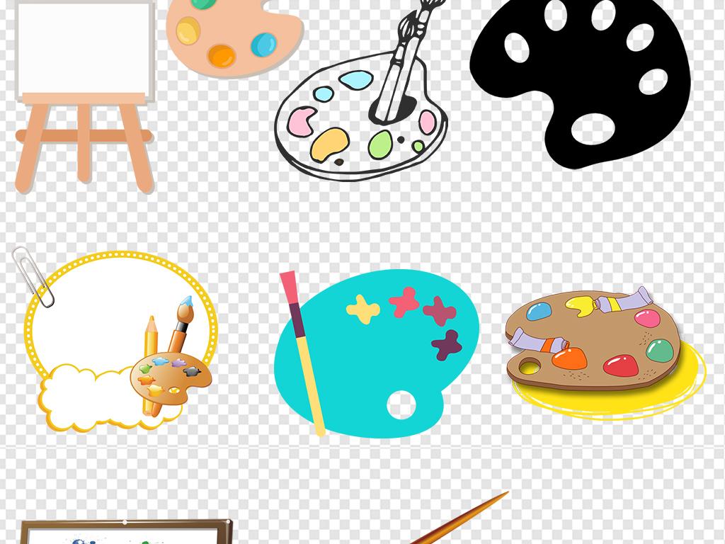通调色盘颜料盘美术学习用品素材图片下载png素材 其他