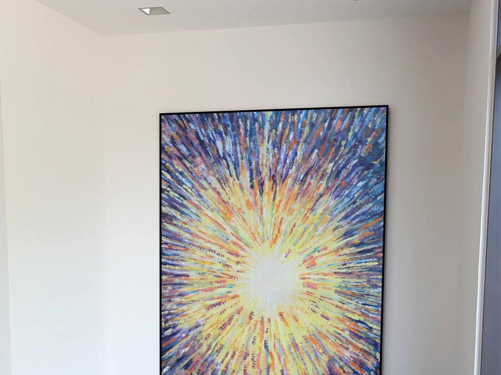 背景墙|装饰画 油画 抽象油画  > 现代时尚炫彩烟花抽象装饰画  版权