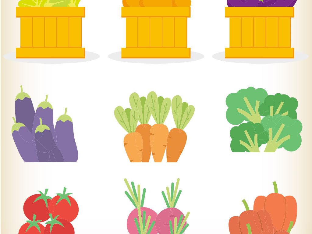 卡通手绘蔬菜水果素材