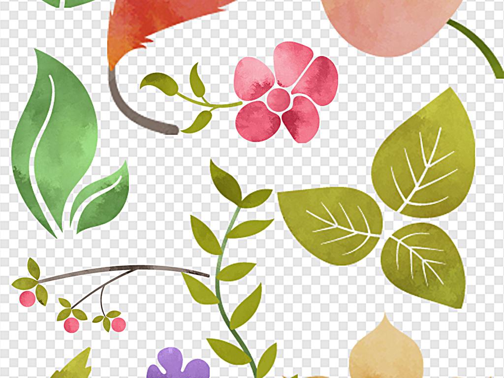 设计作品简介: 水彩花朵标签图案梦幻水彩水彩小动物 位图, rgb格式