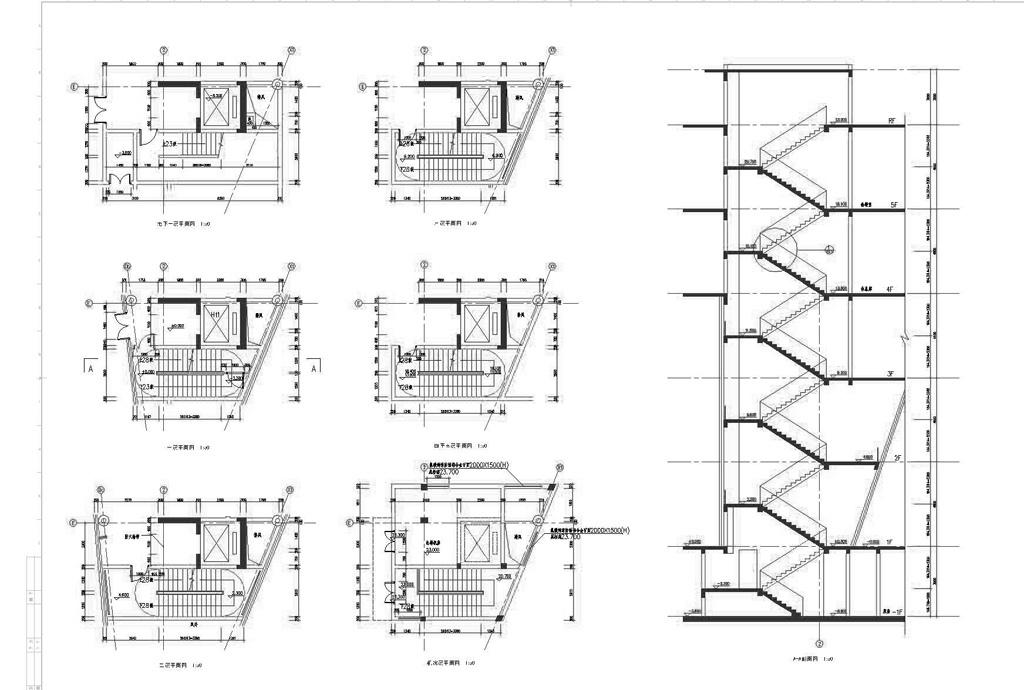 扶手大样图楼梯cad素材cad楼梯施工图cad楼梯栏杆实木楼梯cad楼梯房间