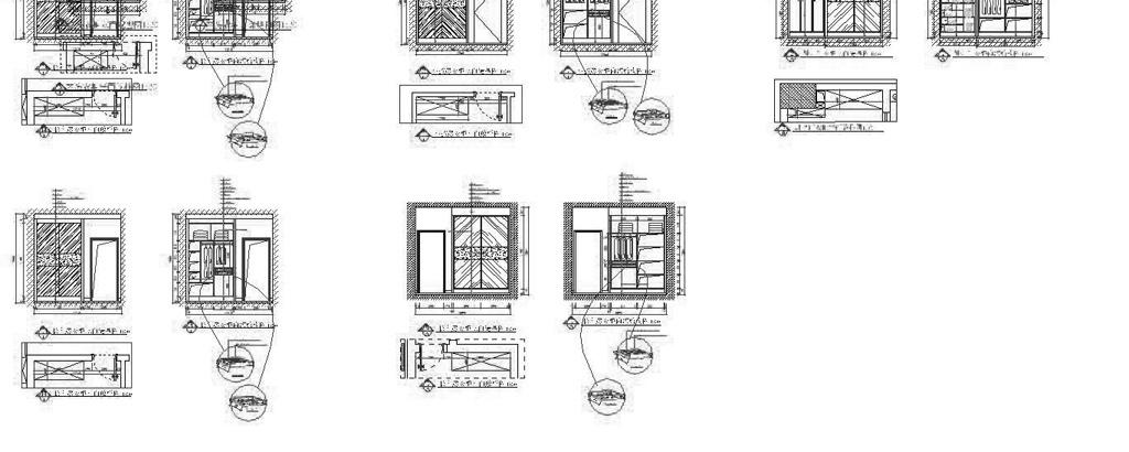 cad图库 室内设计cad图库 家装施工cad图纸 > 柜子结构尺寸cad图
