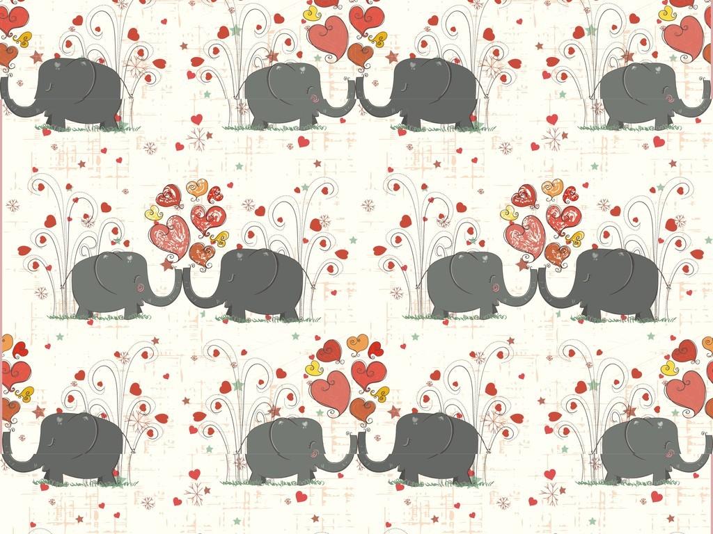 卡通动物抱枕图案设计植物花卉