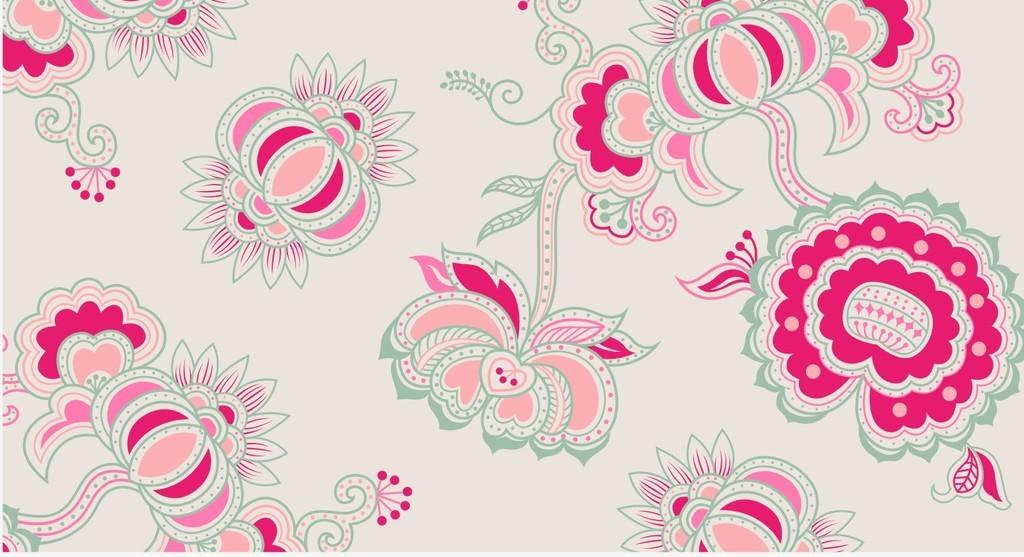 欧式花纹抱枕图案设计