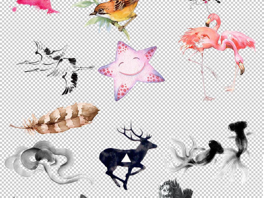 水墨动物中国风设计图片海报素材
