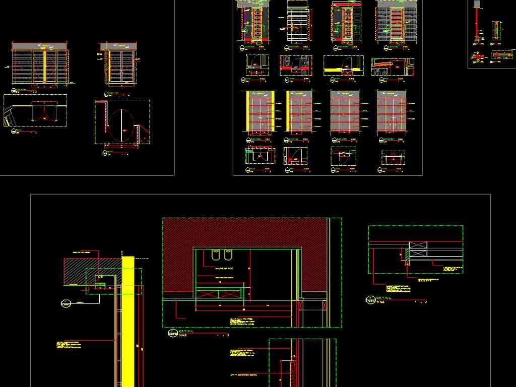 酒店餐厅及套房CAD平面设计图平面图下载 图片76.51MB CAD图纸大