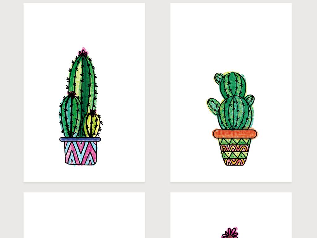 简约高清小清新北欧风格装饰画图片下载ai素材-植物