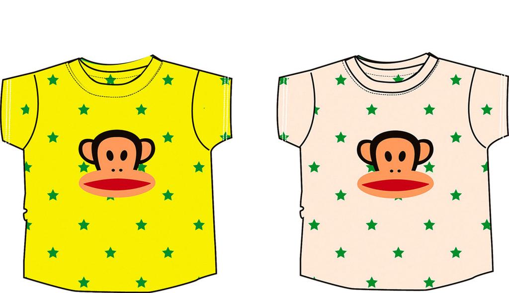 儿童T恤ps设计透明素材免抠图