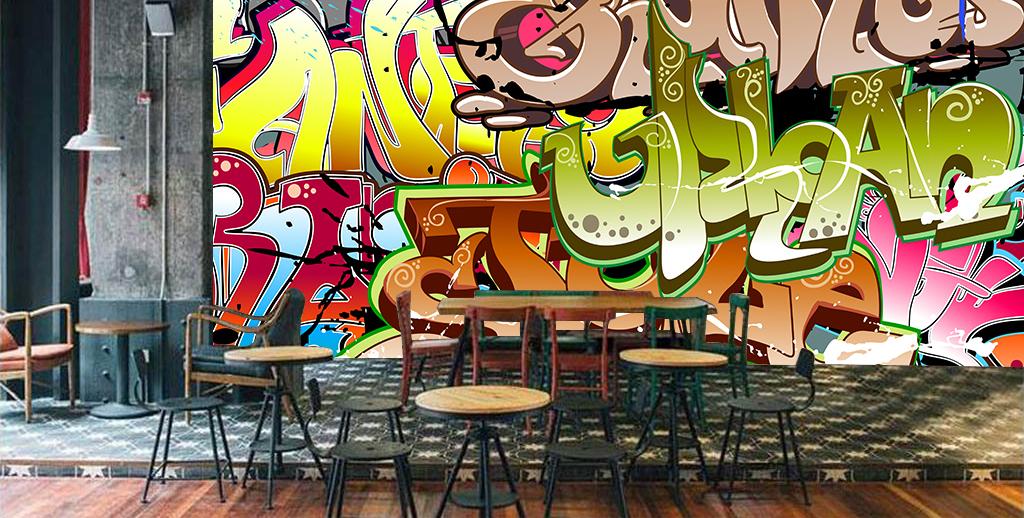 酒吧吧台ktv背景墙墙壁壁纸场景样机97