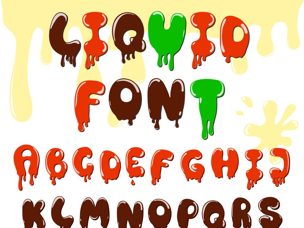 美术字好看的英文字母字体饮料巧克力糖果零食糖果巧克力糖果生日蛋糕
