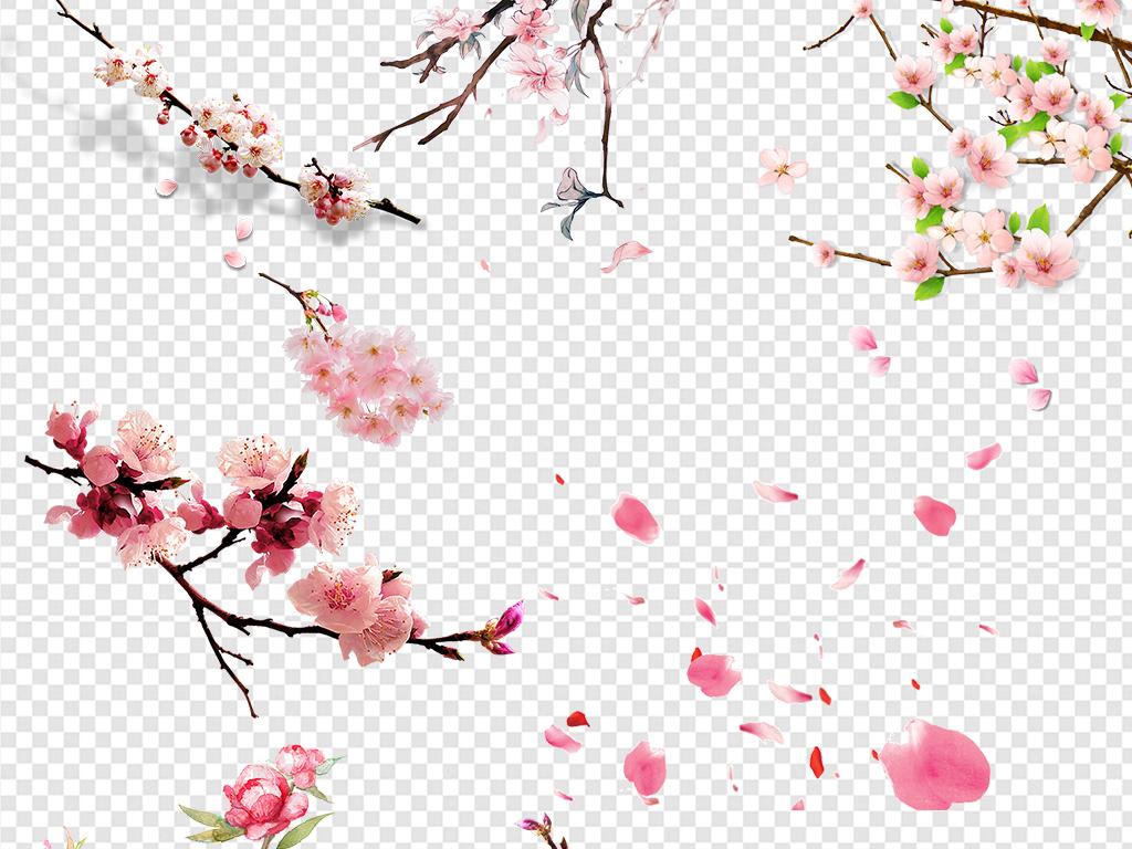 png)浪漫手绘桃花图片春天春季素材