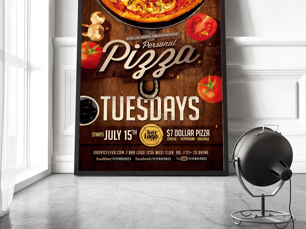 必胜客美食披萨新品上市开业促销海报图片