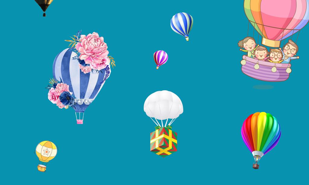 彩色气球                                  卡通热气球