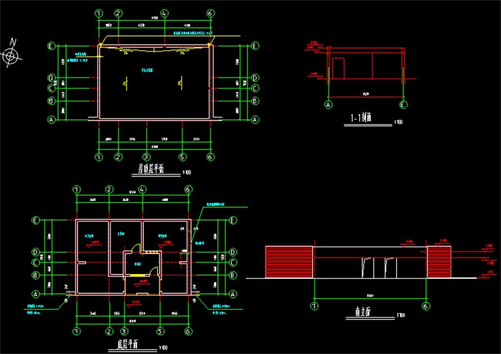 砌体结构cad建筑施工图