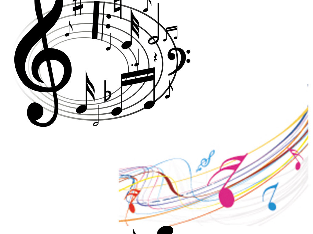 音乐音乐元素手绘素材五线谱素材音乐音符吉他弹奏钢琴弹奏乐器弹奏