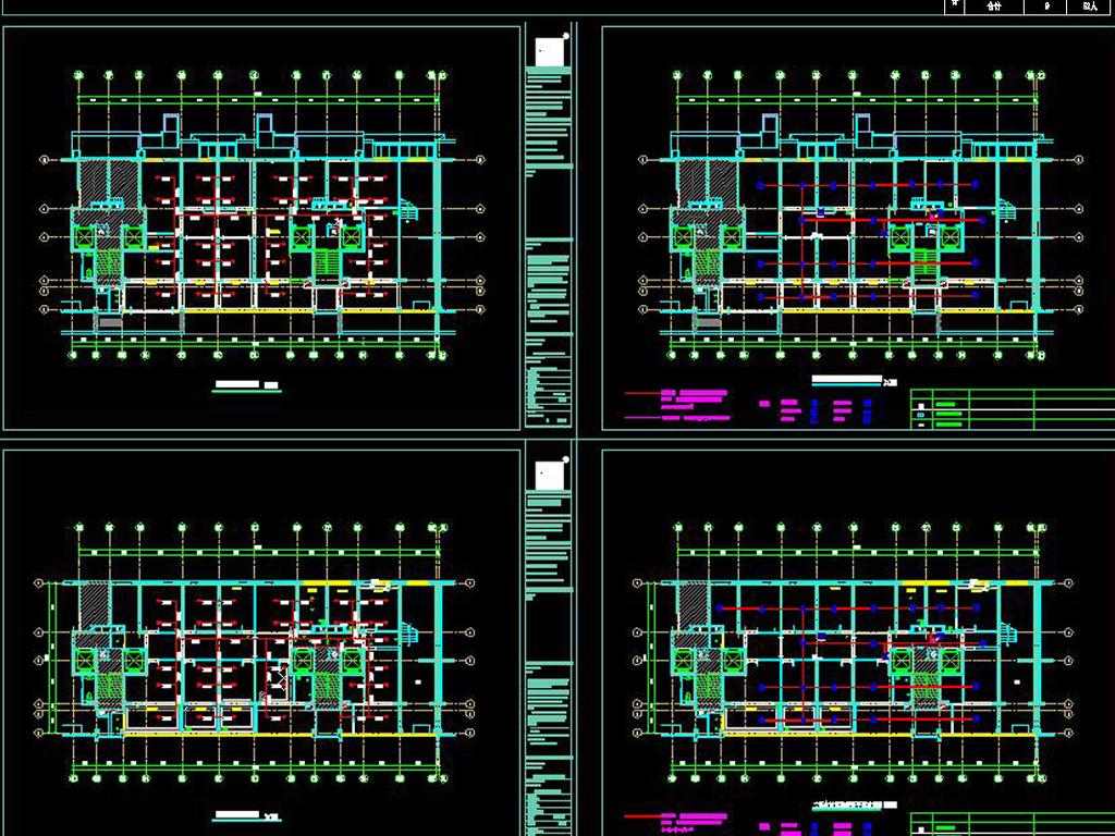 全套中式茶楼CAD施工图平面设计图下载 图片69.99MB CAD图纸大全 图片