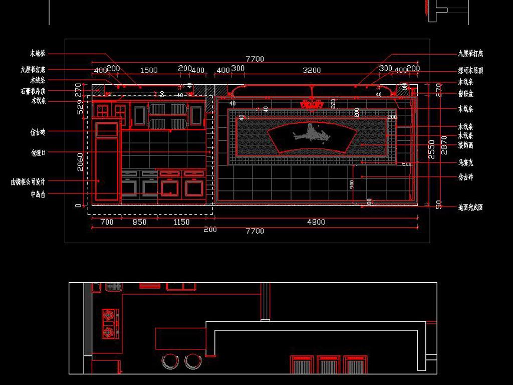 全套中式家装cad施工图平面设计图下载(图片3.95mb)
