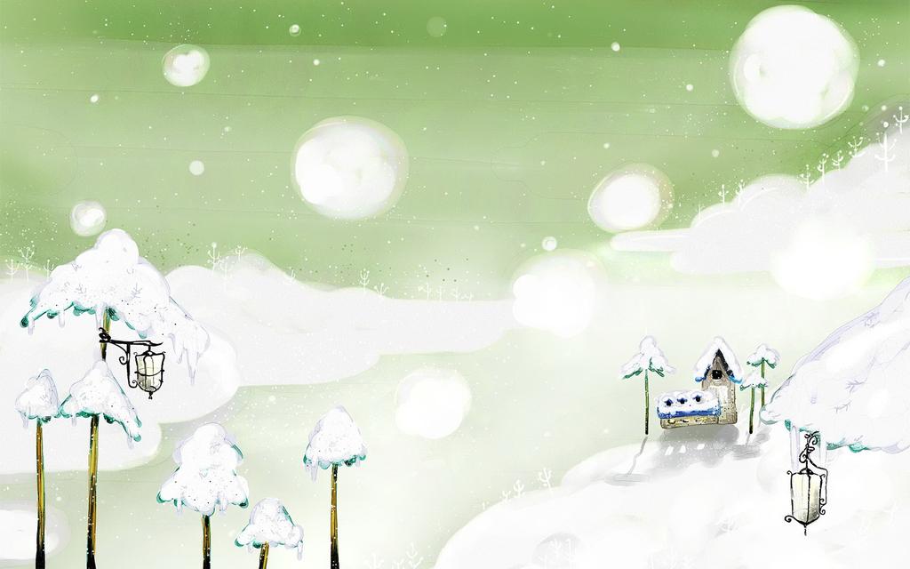 动漫场景制作梦幻风景手绘风景场景