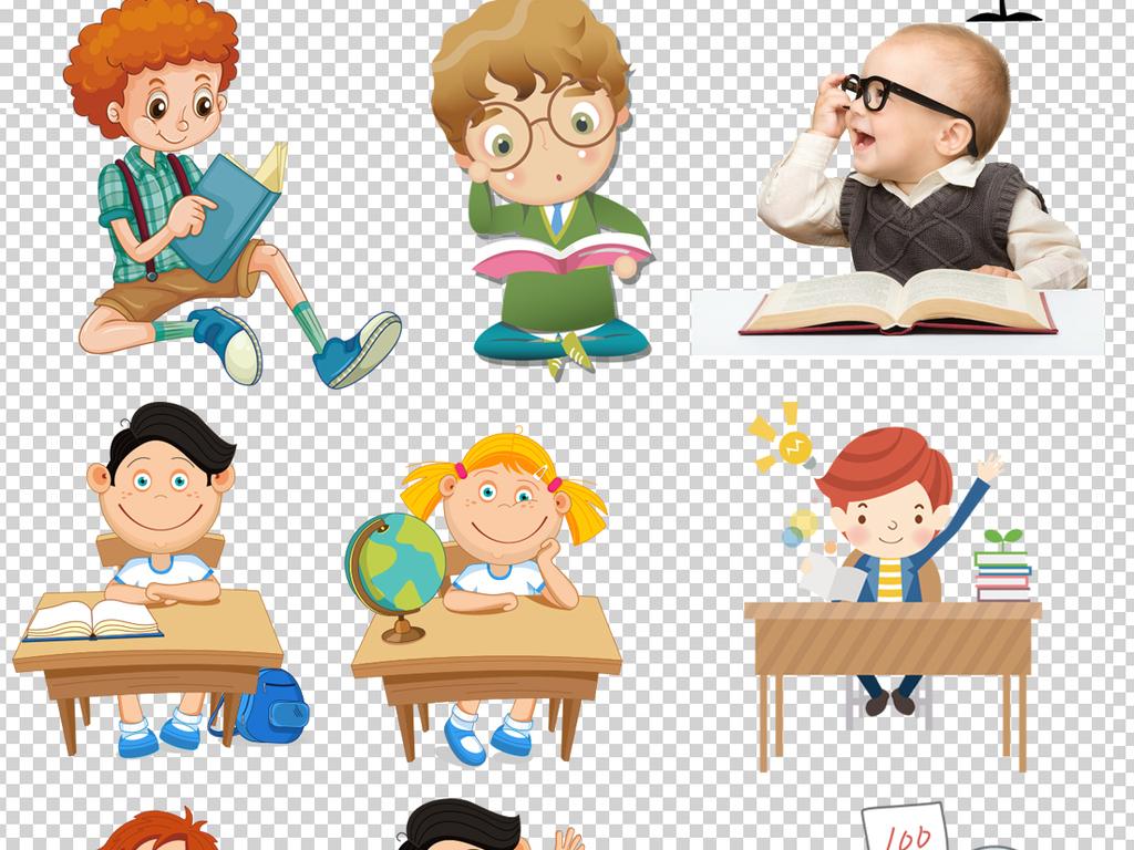 上课读书儿童读书的儿童儿童读书图片卡通儿童读书儿童读书模板儿童卡