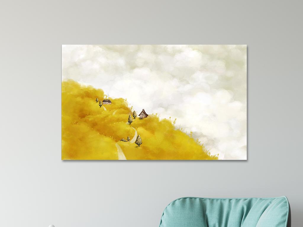 手绘油画风景远景梦境意境挂画