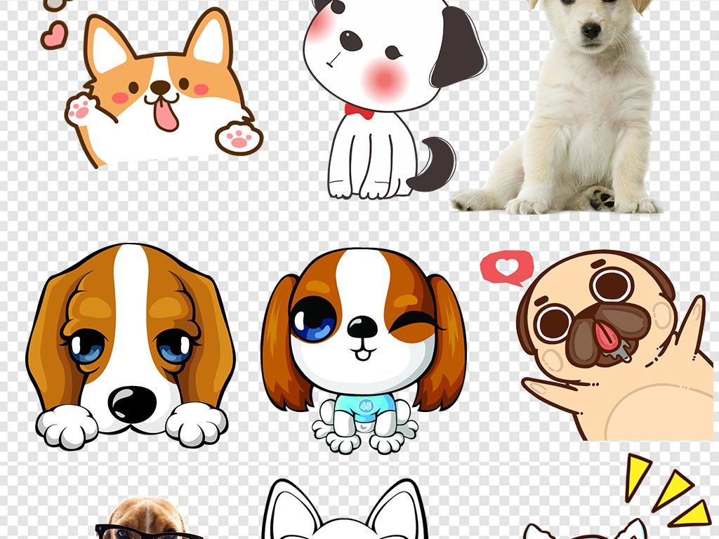 卡通动物                                  手绘小狗小狗狗