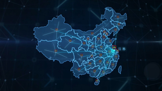 科技辐射中国地图模板素材_高清mp4格式下载(视频111.