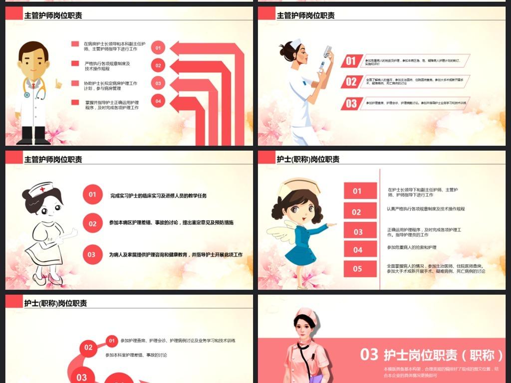 医疗护理医药医院护士简历ppt模板图片