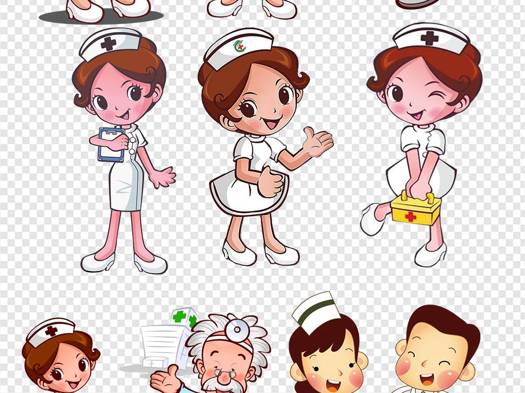 卡通医院护士医生医疗海报素材