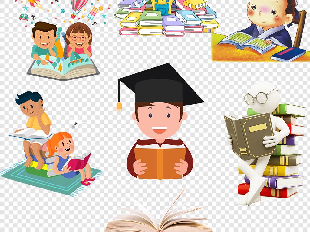 小学生学习                                          人物读书