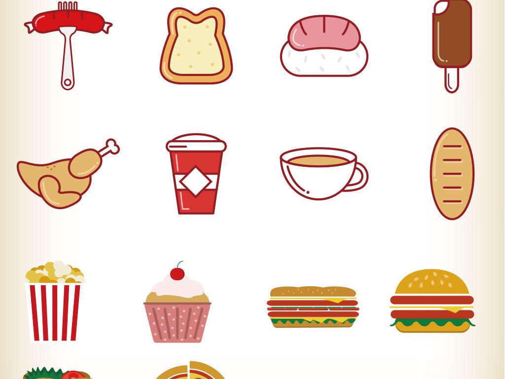 各种美味小吃图标图片