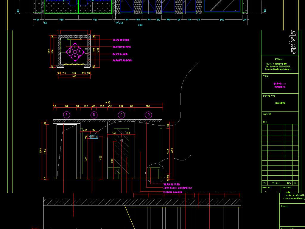 服装店cad室内设计图