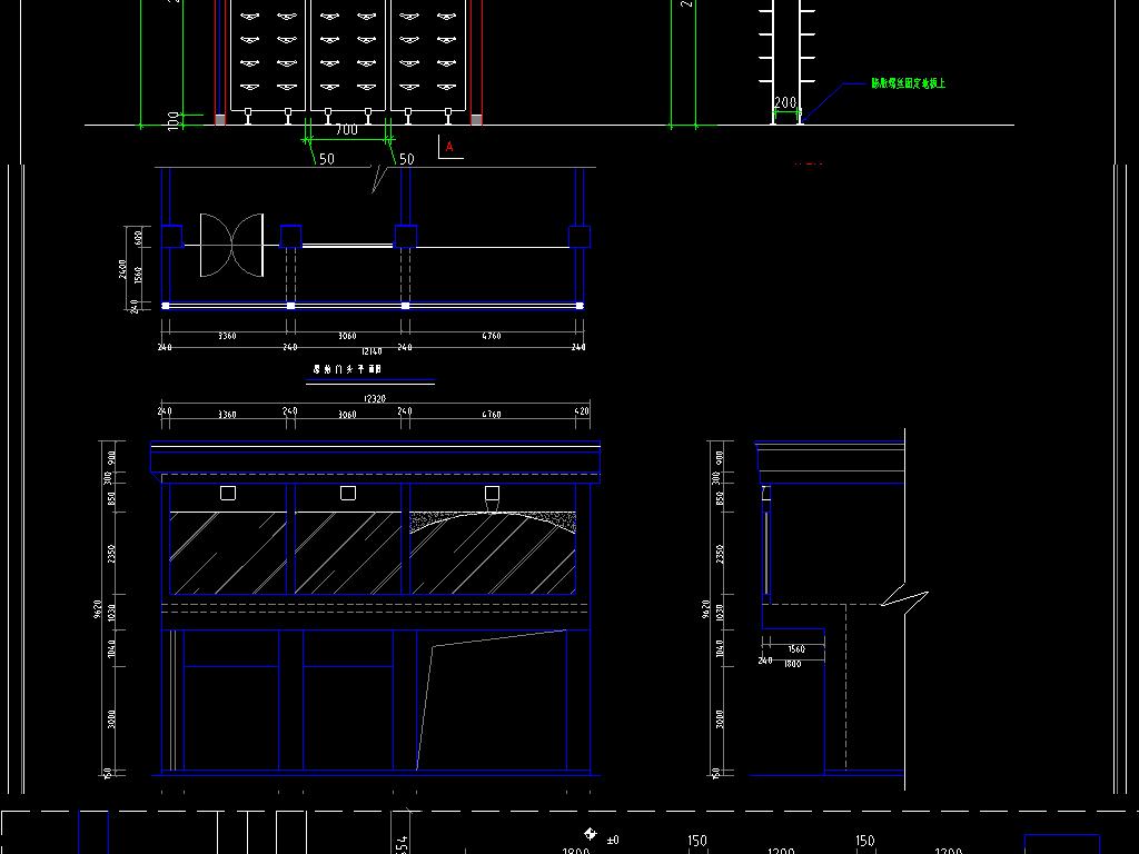 服饰店服饰店cad建筑施工图服装店平面规划设计两层服装店cad室内设计
