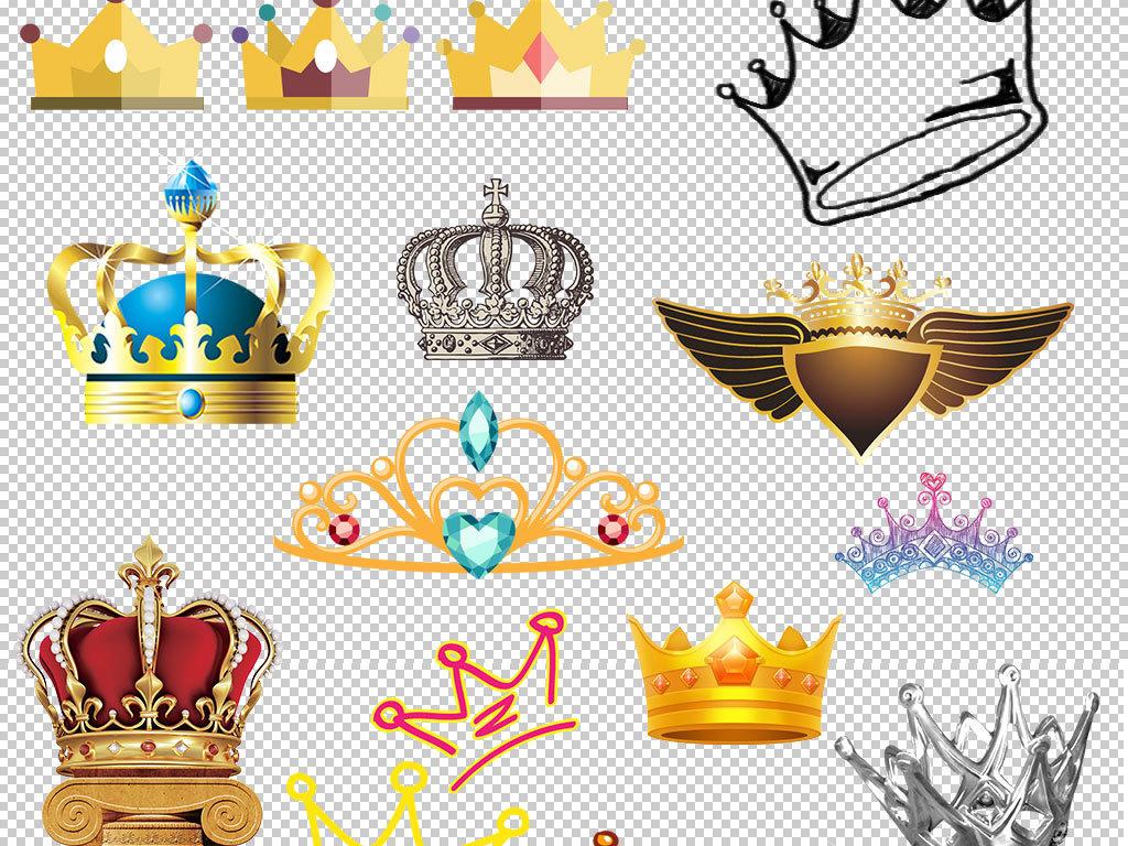 多款实用金色贵族皇冠设计海报素材