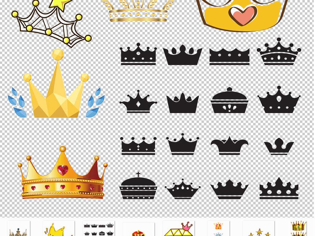 精致实用金色贵族皇冠设计png素材