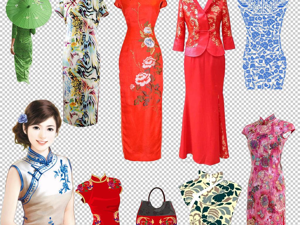 立绘美女手绘女性古典美女民国女性中国风花纹旗袍绿色撑伞背影