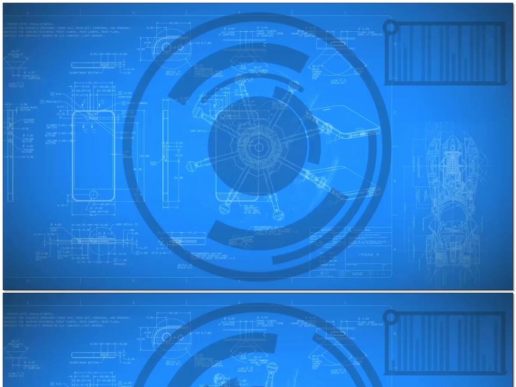 科技蓝图设计图纸