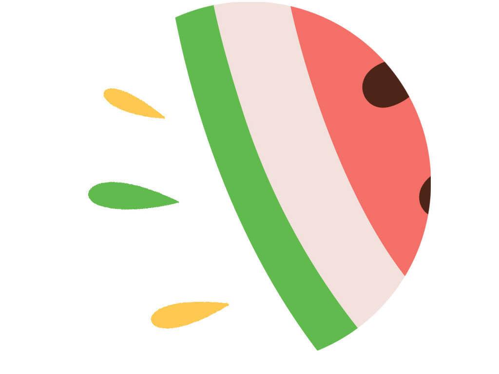 北欧小清新现代简约抽象甜蜜西瓜餐厅装饰画