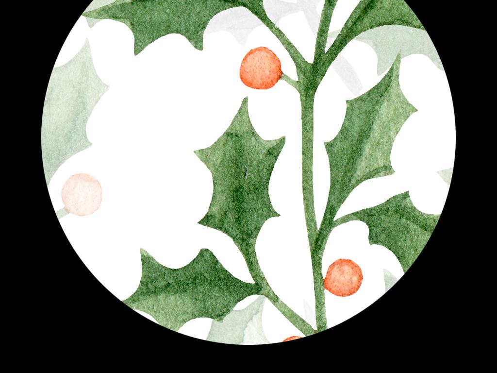 高清简约小清新北欧风格植物叶子装饰画图片设计素材