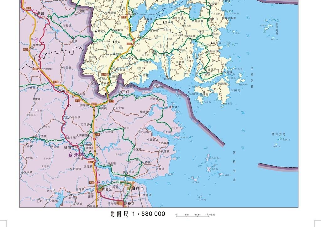 宁波市地图高清版大图