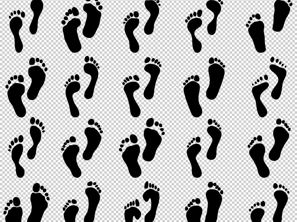 卡通矢量手绘人物脚印鞋印免扣png图片图片
