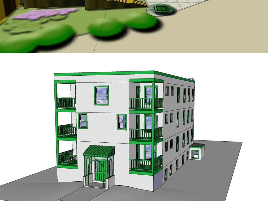 多款大学学生宿舍楼宿舍su模型合集设计图下载(图片53图片