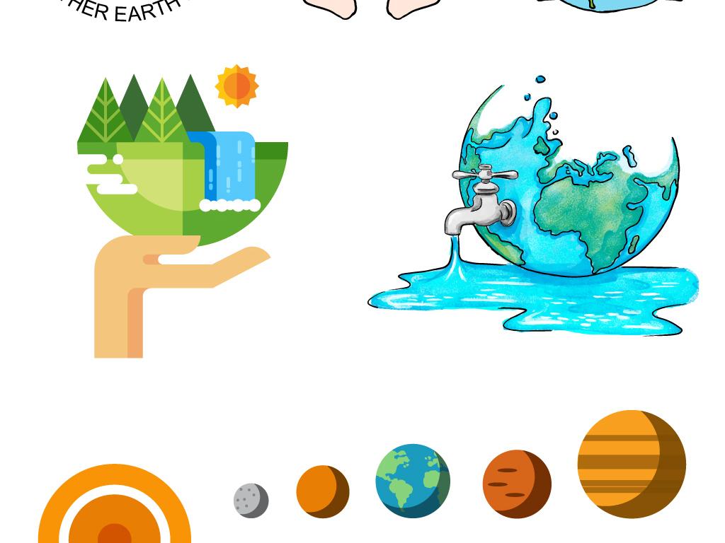 素材地球小时手绘手绘pop手绘pop字手捧地球手绘海报手绘效果图手绘